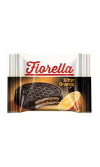 Вафли Fiorella в темном шоколаде с апельсином 20 гр