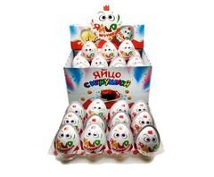 Яйцо с игрушкой, шоколадно-молочной пастой и печеньем 12 грамм