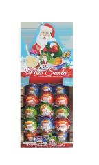 Яйцо пласт. Дед Мороз с сюрпризом и шок. десертом 15 гр