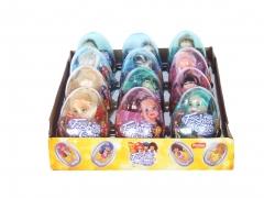 """Прозрачные пластиковые яйца с карамелью и игрушкой """"FASHION GIRL"""" 6 грамм"""