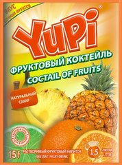 Растворимый напиток YUPI Фруктовый коктейль 15 грамм