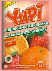 Растворимый напиток YUPI Апельсин-клубника 15 грамм