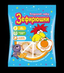 Зефир воздушный Зефирюшки Апельсин 40 гр