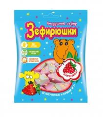 Зефир воздушный Зефирюшки Клубника 40 гр