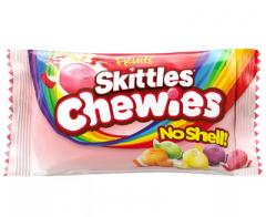 Жевательные конфеты Skittles Chewies без скорлупы 45 гр