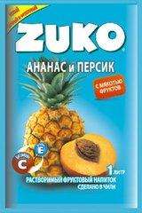 Растворимый напиток ZUKO Ананас-персик 25 грамм