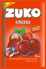 Растворимый напиток ZUKO Клюква 25 грамм